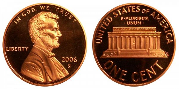 2006 S Lincoln Memorial Cent Penny Proof