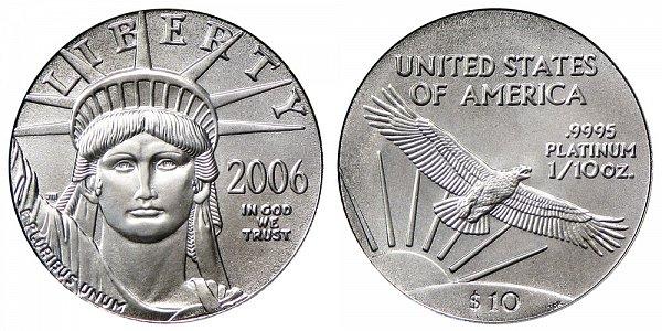 2006 Tenth Ounce American Platinum Eagle - 1/10 oz Platinum $10