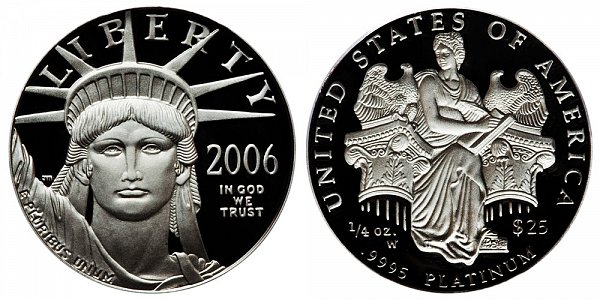 2006 W Proof Quarter Ounce American Platinum Eagle - 1/4 oz Platinum $25