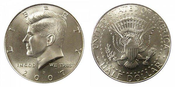 2007 D Kennedy Half Dollar
