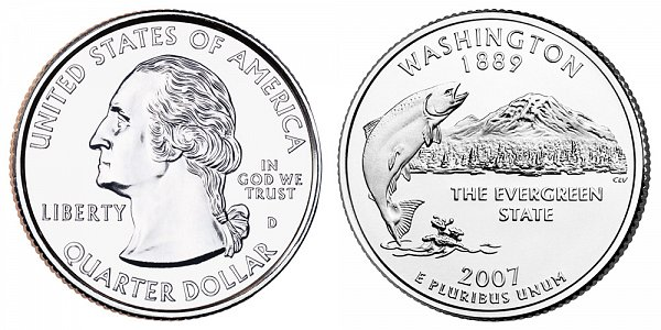 2007 D Washington State Quarter