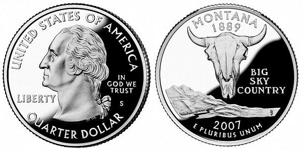 2007 S Silver Proof Montana State Quarter