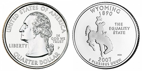 2007 P Wyoming State Quarter