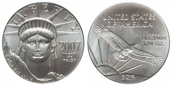 2007 Quarter Ounce American Platinum Eagle - 1/4 oz Platinum $25