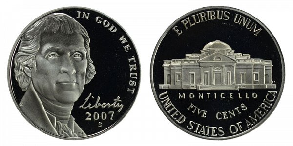 2007 S Jefferson Nickel Proof