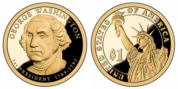 2007 S Proof George Washington Presidential Dollar Coin