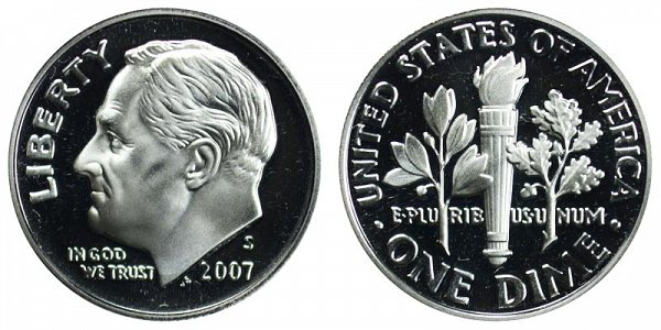 2007 S Roosevelt Dime Proof