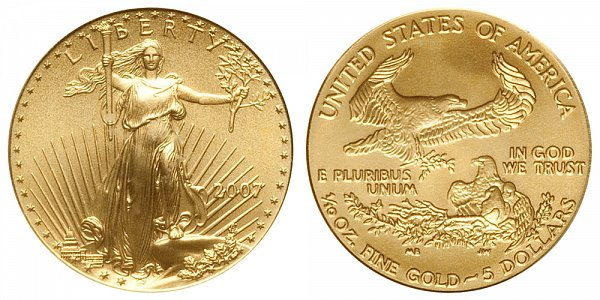2007 Tenth Ounce American Gold Eagle - 1/10 oz Gold $5