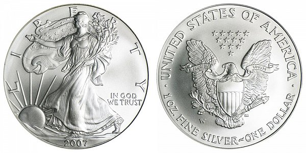 2007 W Burnished Uncirculated American Silver Eagle
