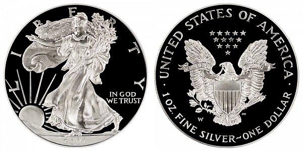 2007 W Proof American Silver Eagle