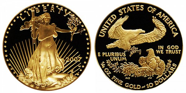 2007 W Proof Quarter Ounce American Gold Eagle - 1/4 oz Gold $10
