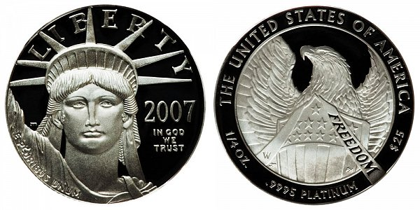 2007 W Proof Quarter Ounce American Platinum Eagle - 1/4 oz Platinum $25