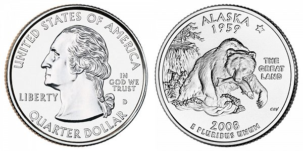 2008 D Alaska State Quarter