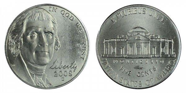 2008 D Jefferson Nickel