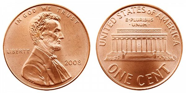 2008 Lincoln Memorial Cent Penny