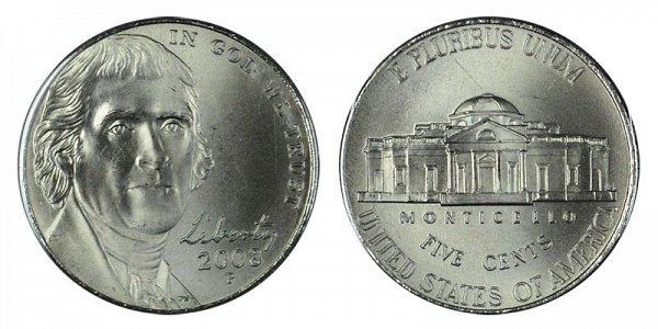 2008 P Jefferson Nickel