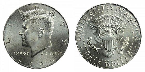 2008 P Kennedy Half Dollar