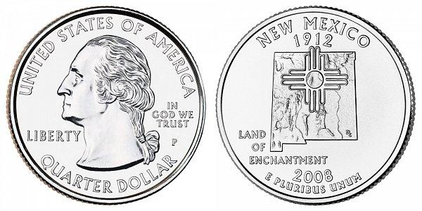 2008 P New Mexico State Quarter