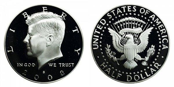 2008 S Silver Kennedy Half Dollar Proof