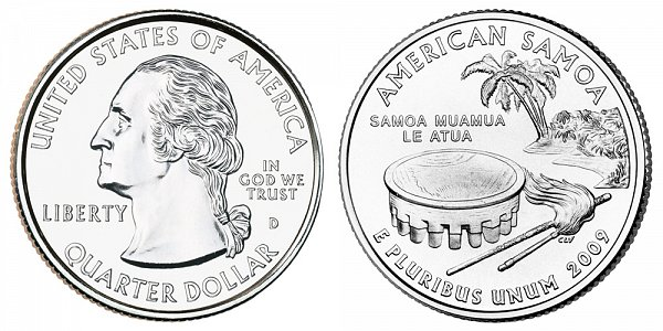 2009 D American Samoa Quarter