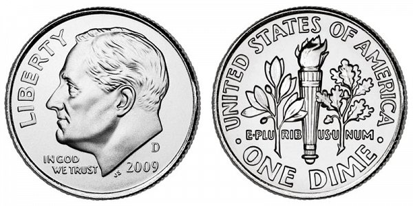 2009 D Roosevelt Dime