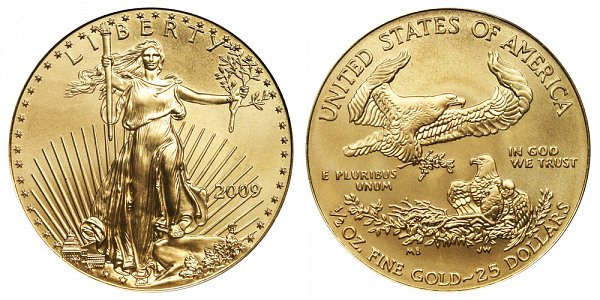 2009 Half Ounce American Gold Eagle - 1/2 oz Gold $25