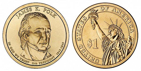 2009 P James K. Polk Presidential Dollar Coin