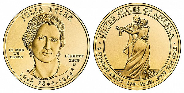 2009 Julia Tyler First Spouse Gold Coin