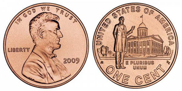 2009 Lincoln Bicentennial Cent - Professional Life in Illinois Penny