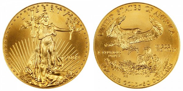 2009 One Ounce American Gold Eagle - 1 oz Gold $50