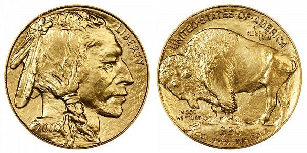 2009 One Ounce Gold American Buffalo - 1 oz Gold $50