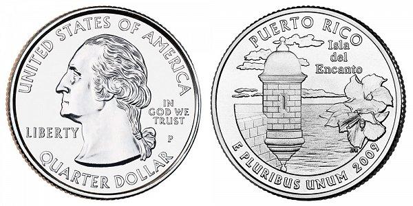 2009 P Puerto Rico Quarter