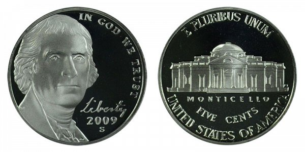 2009 S Jefferson Nickel Proof
