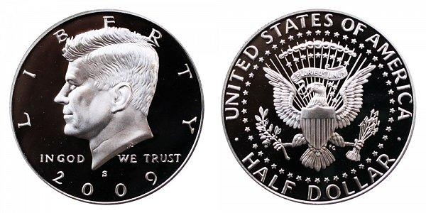 2009 S Silver Kennedy Half Dollar Proof