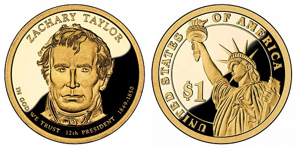 2009 S Proof Zachary Taylor Presidential Dollar Coin