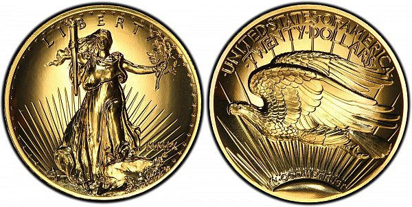 Saint Gaudens Gold $20 Double Eagle Ultra High Relief US Coin