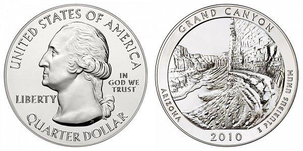 2010 Grand Canyon 5 Ounce Bullion Coin - 5 oz Silver