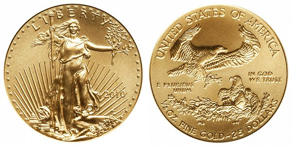 2010 Half Ounce American Gold Eagle - 1/2 oz Gold $25