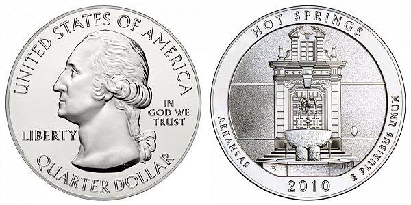 2010 Hot Springs 5 Ounce Bullion Coin - 5 oz Silver