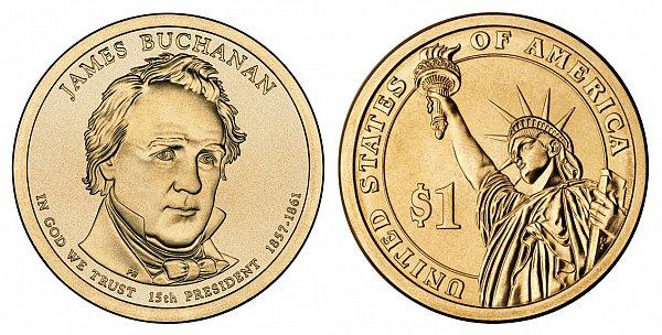 2010 P James Buchanan Presidential Dollar Coin