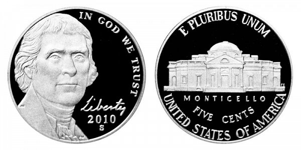 2010 S Jefferson Nickel Proof
