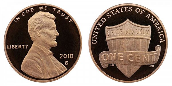 2010 S Lincoln Shield Cent Penny