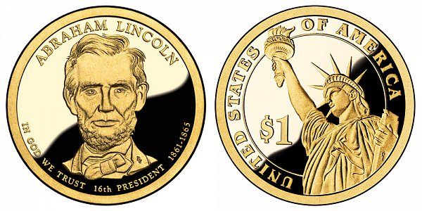 2010 S Proof Abraham Lincoln Presidential Dollar Coin