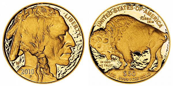 2010 W Proof One Ounce Gold American Buffalo - 1 oz Gold $50