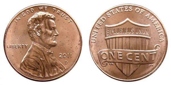 2011 D Lincoln Shield Cent Penny