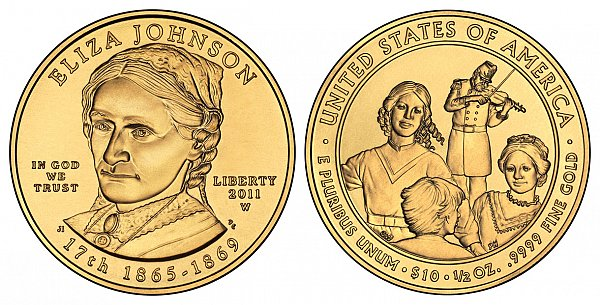 2011 Eliza Johnson First Spouse Gold Coin
