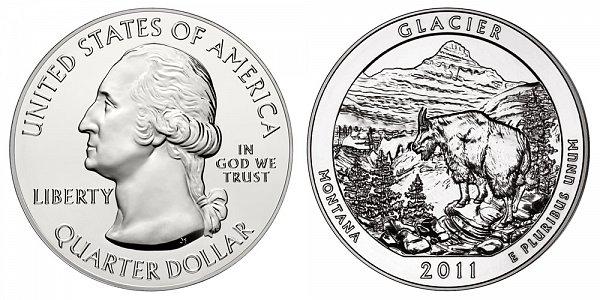 2011 Glacier 5 Ounce Bullion Coin - 5 oz Silver