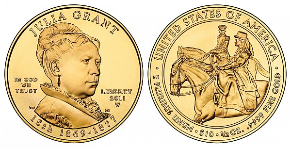 2011 Julia Grant First Spouse Gold Coin