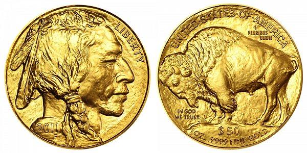 2011 One Ounce Gold American Buffalo - 1 oz Gold $50