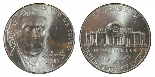 2011 P Jefferson Nickel